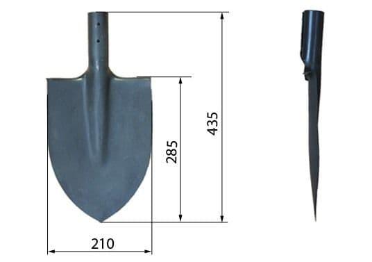 Размеры лопат