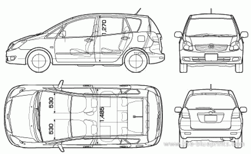 Body Dimensions Of Toyota Corolla Verso Dimension Tables