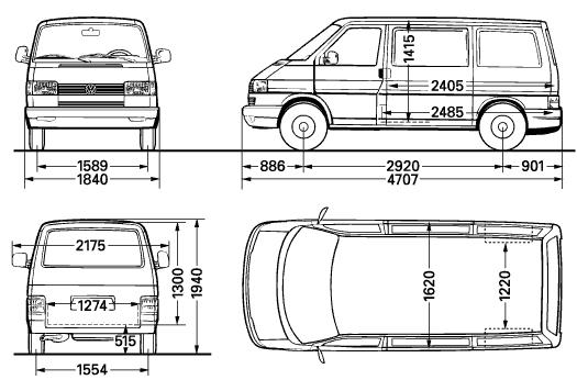 Размер задней двери фольксваген транспортер устройство и принцип работы винтового конвейера