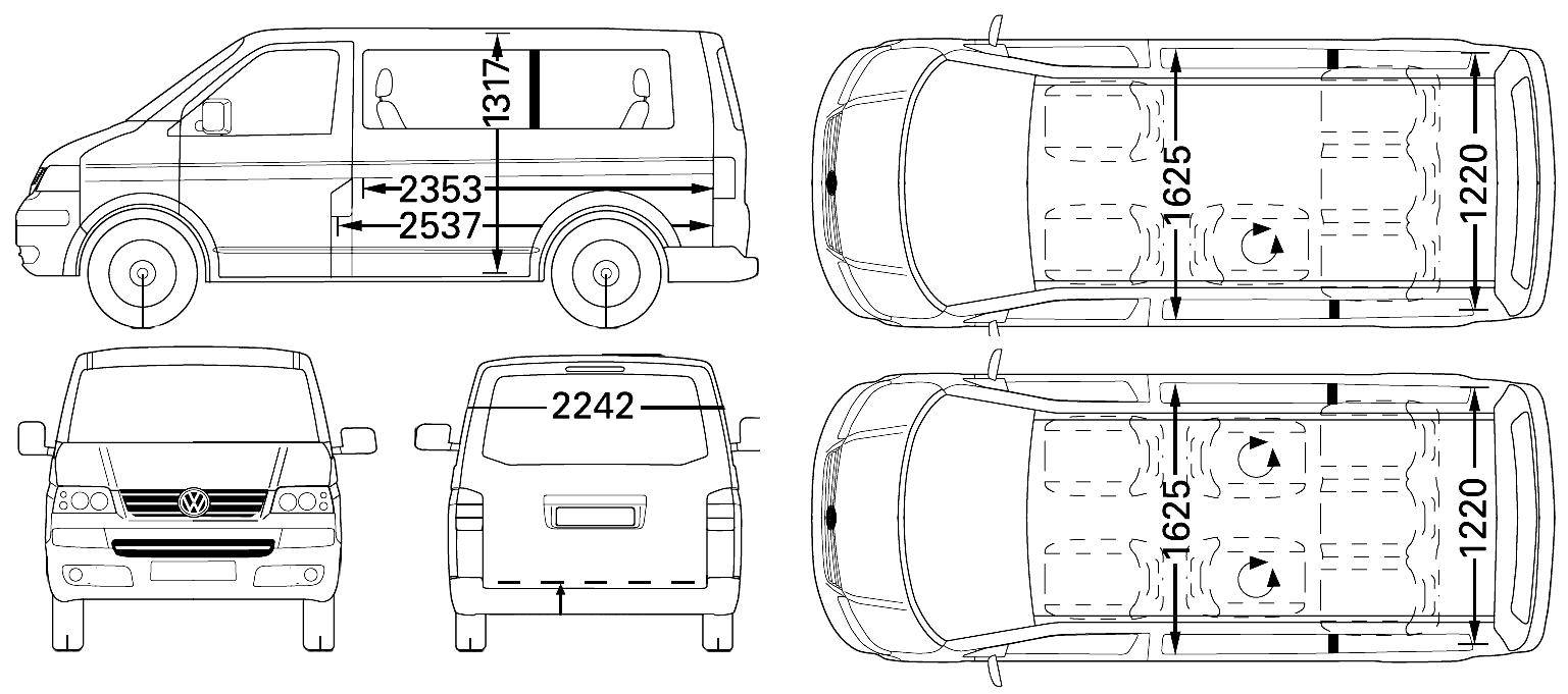 Транспортер т5 длина фольксваген транспортер т4 на разбор